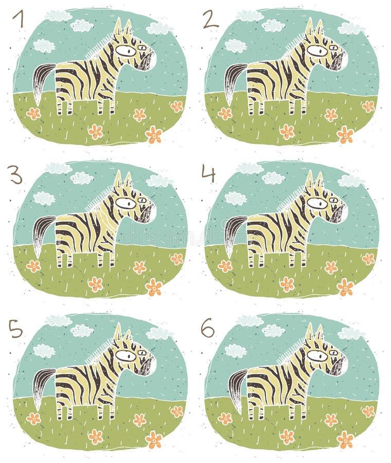 Free Zebra Visual Game Stock Photos - 29842213