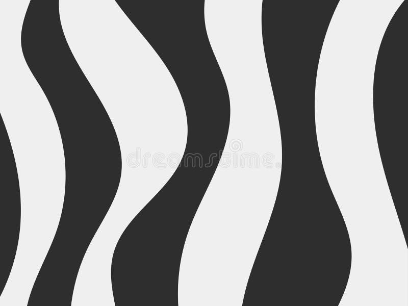 Zebra wzór Czerń lampasy na białym tle Skóra zwierzę wektor ilustracja wektor