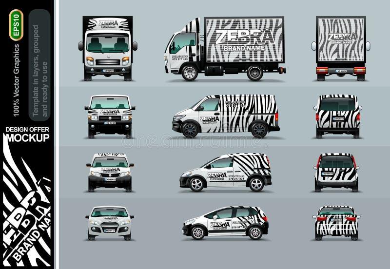 Zebra wzór Układ oferty dla twój biznesu ilustracja wektor