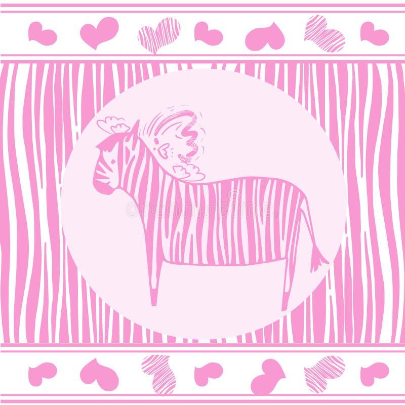 Zebra z menchiami obdziera wektor eps 10 royalty ilustracja