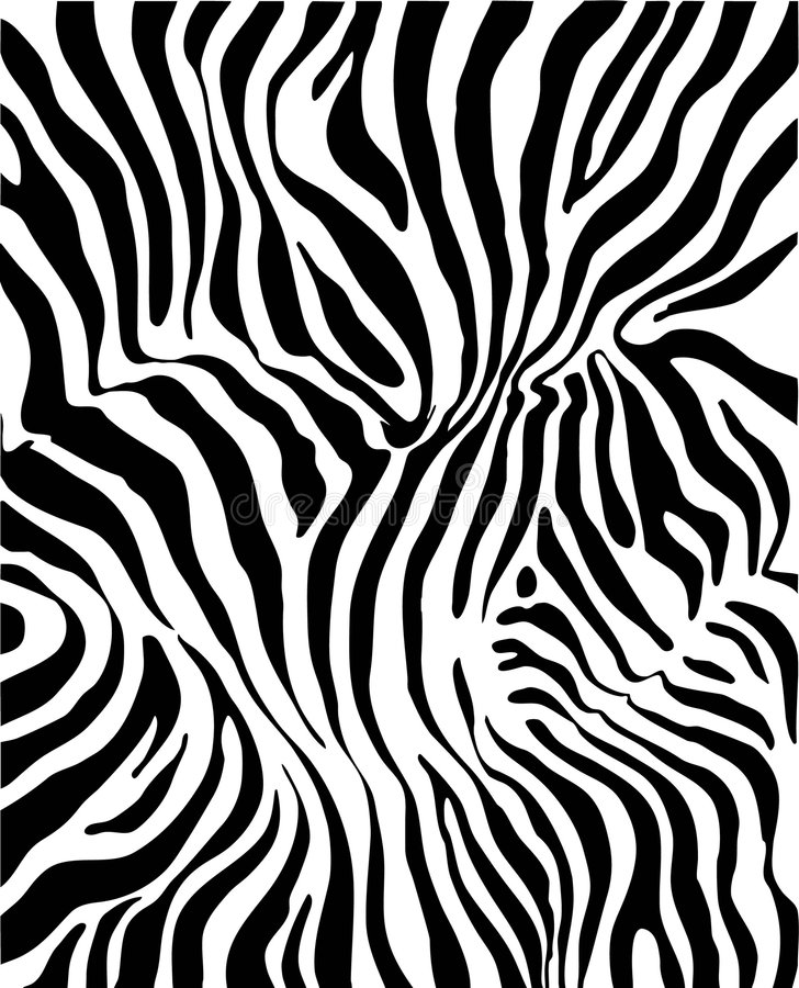 Zebrahaut stock abbildung