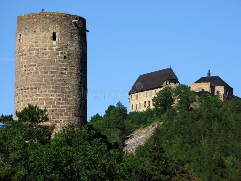 Zebrak Schloss und Tocnik Schloss lizenzfreies stockfoto