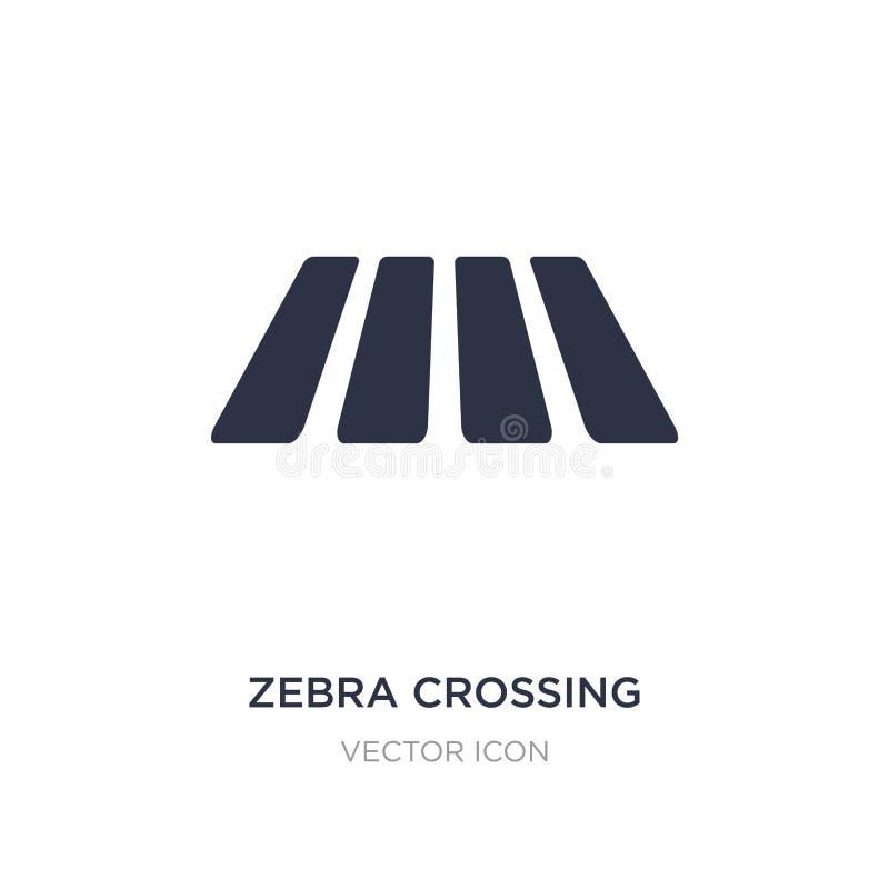 zebramarkering symbol på vit bakgrund Enkel beståndsdelillustration från vaket begrepp royaltyfri illustrationer