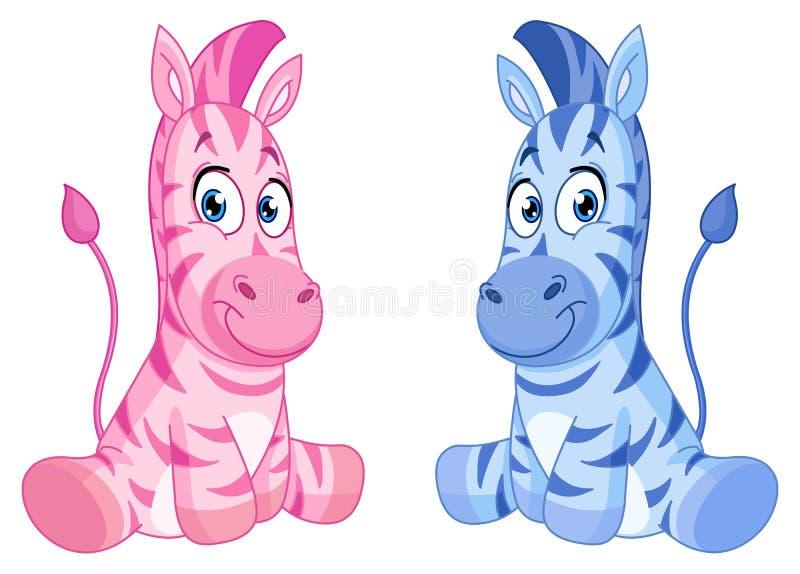 Zebre del bambino royalty illustrazione gratis