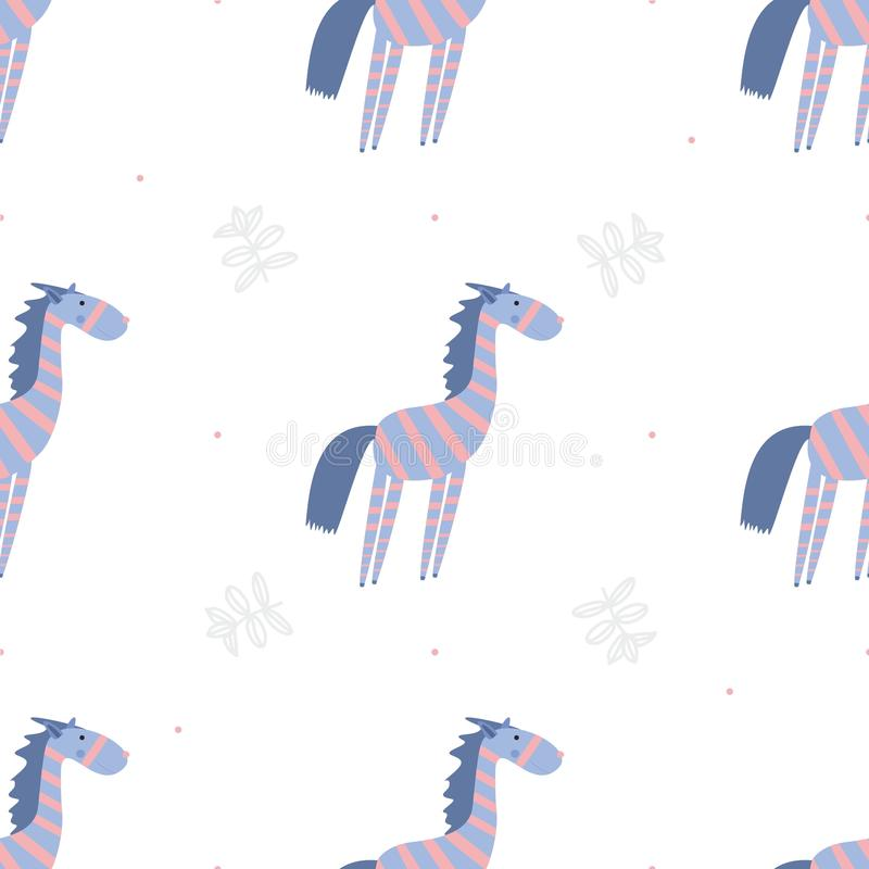 Zebre senza cuciture del modello illustrazione vettoriale