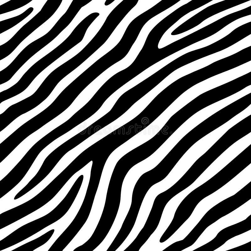 Zebry tekstury Bezszwowy Wektorowy tło ilustracji