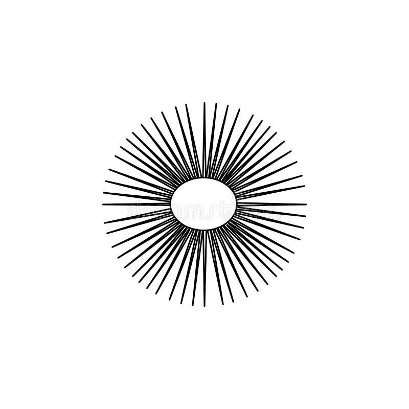 zeeëgelpictogram Element van populair overzees dierenpictogram Het grafische ontwerp van de premiekwaliteit Tekens, het pictogram stock illustratie