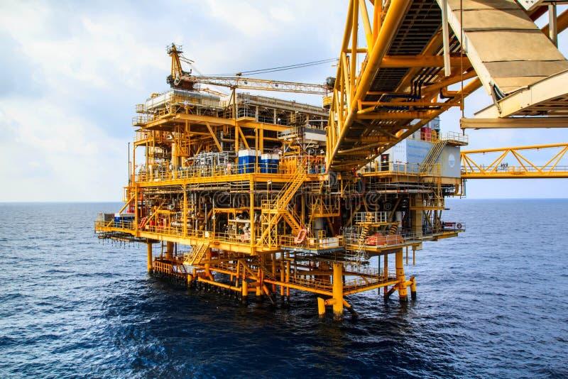 Zee de Industrieolie en gas royalty-vrije stock foto's