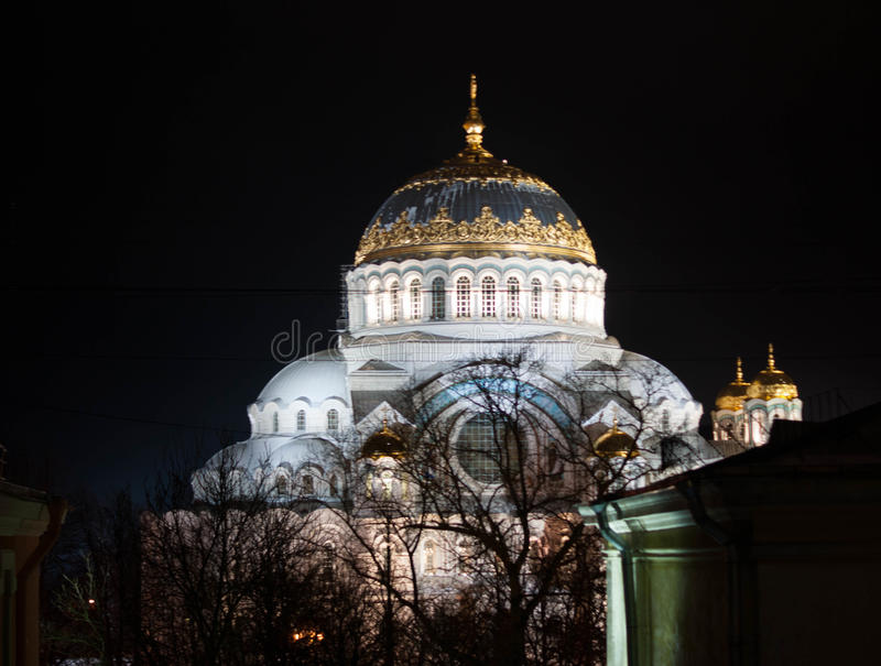 Zee kathedraal in Kronstadt royalty-vrije stock foto's