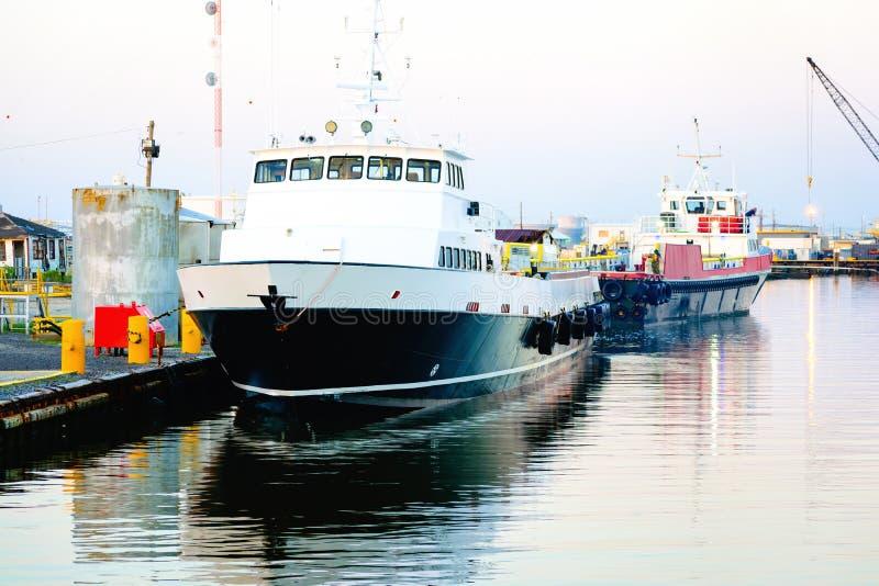 Zeecrewboat stock afbeelding