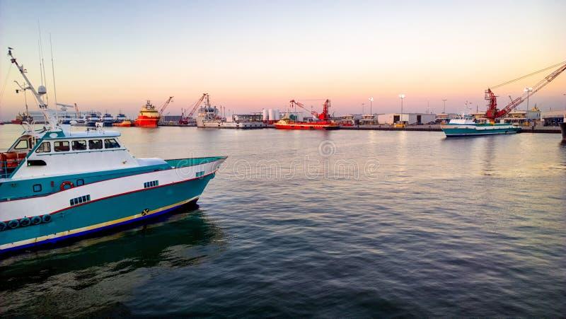 Zeecrewboat royalty-vrije stock afbeelding