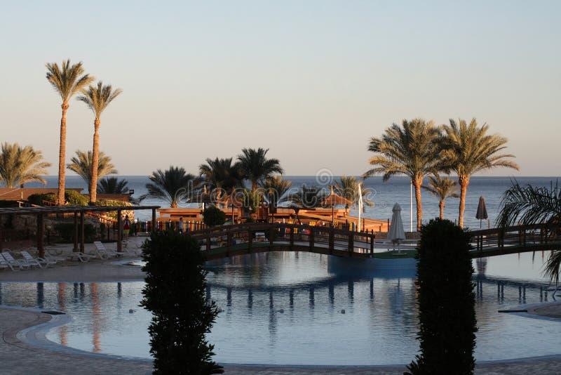Zeegezicht, Egypte, Sharm el-Sheikh royalty-vrije stock afbeeldingen