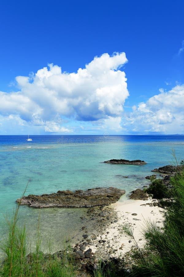 Zeegezicht in Okinawa Japan royalty-vrije stock foto's