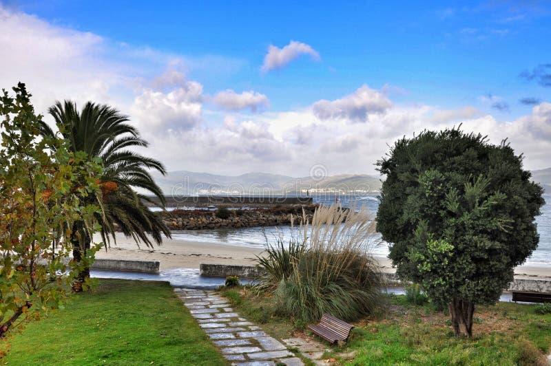 Zeegezicht Porto doet Zoon royalty-vrije stock afbeelding