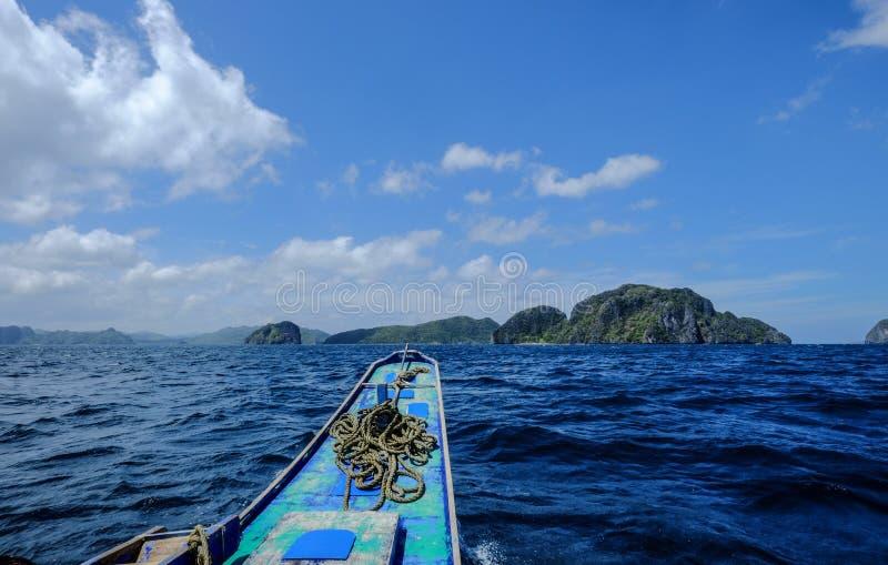 Zeegezicht van Coron-Eiland, Filippijnen stock afbeelding