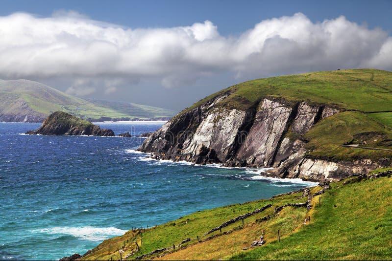 Zeegezicht van Dingle Kustlijn, Provincie Kerry stock afbeeldingen