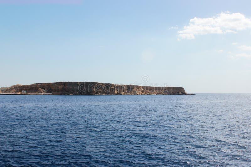 zeegezicht van het Rode Overzees in Sharm el-Sheikh stock foto
