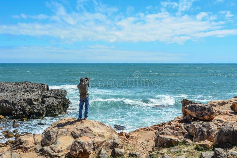 Zeegezicht van Nha Trang, Vietnam stock fotografie