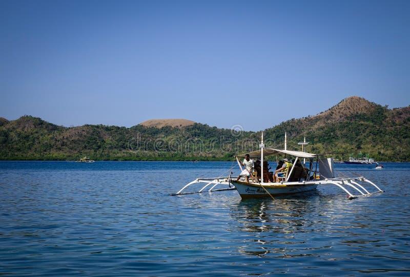 Zeegezicht van Palawan-Eilanden in Filippijnen royalty-vrije stock foto's