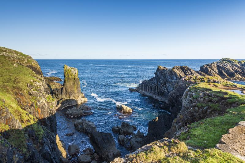 Zeegezichten over het Eiland van Lewis-kusten, Schotland stock foto