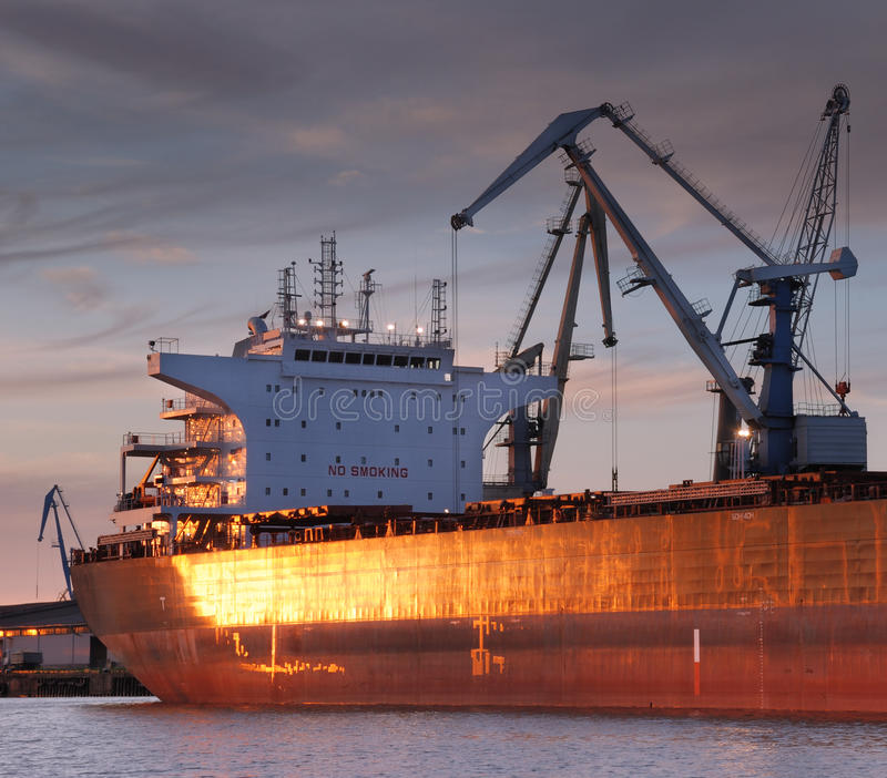 Zeehaven. stock foto