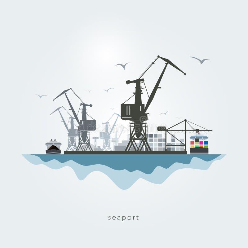 zeehaven stock illustratie