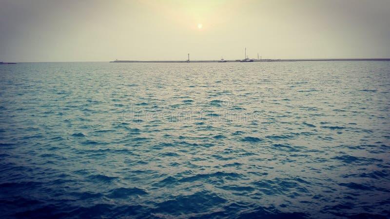 zeehaven stock afbeeldingen