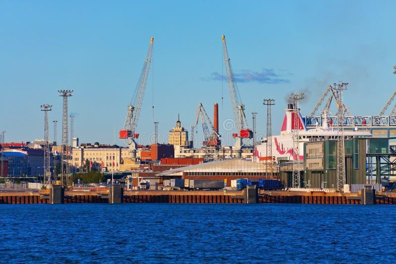 Zeehaven in Helsinki, Finland stock foto's