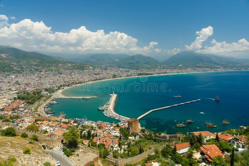 zeehaven Mening van het panoramische gezicht stock foto