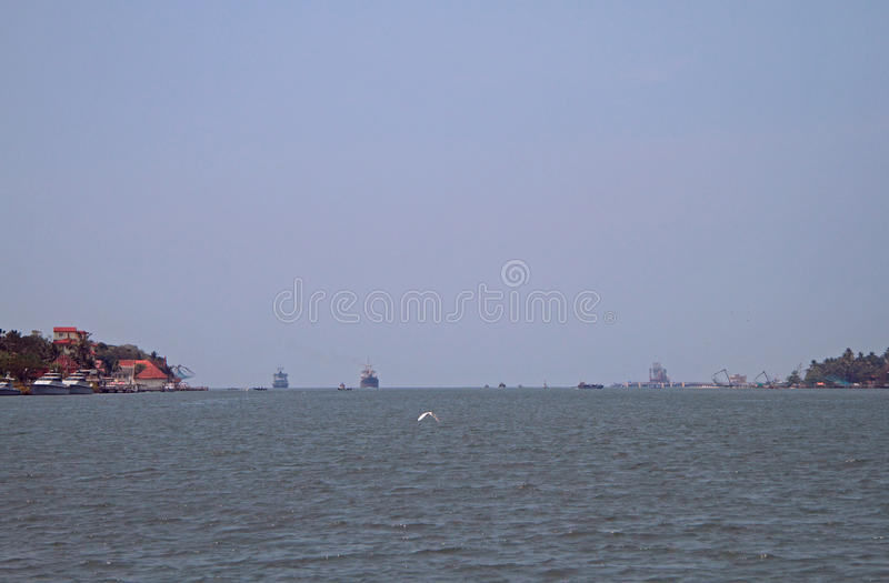 Zeehaven van Kochi, India stock foto