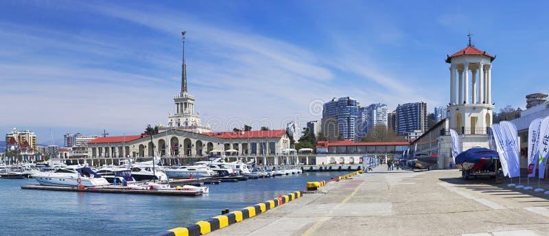 Zeehaven van Sotchi royalty-vrije stock afbeelding