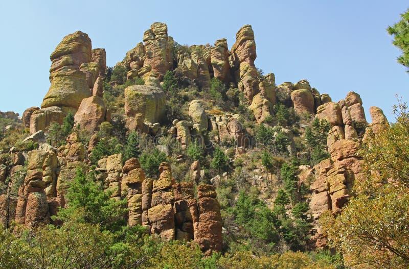 Zeekapitein Formation in het Nationale Monument van Chiricahua, Arizona stock afbeeldingen