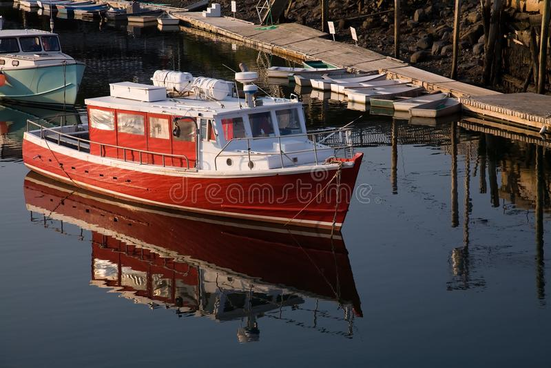 Zeekreeftboot stock afbeeldingen