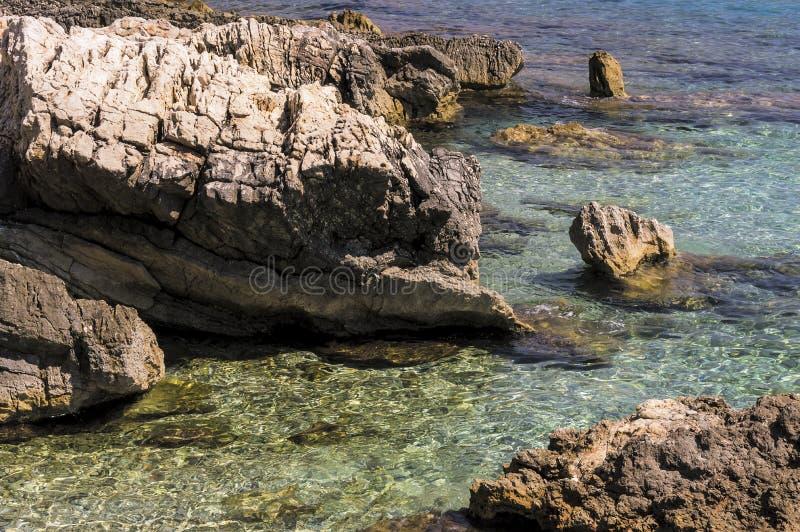Zeekust van Roquebrune GLB Martin in een de zomerdag stock fotografie
