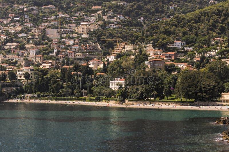 Zeekust van Roquebrune GLB Martin in een de zomerdag stock foto
