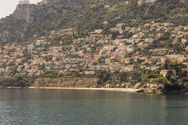 Zeekust van Roquebrune GLB Martin in een de zomerdag royalty-vrije stock foto