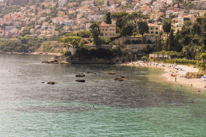 Zeekust van Roquebrune GLB Martin in een de zomerdag royalty-vrije stock foto's