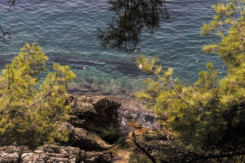 Zeekust van Roquebrune GLB Martin in een de zomerdag stock foto's