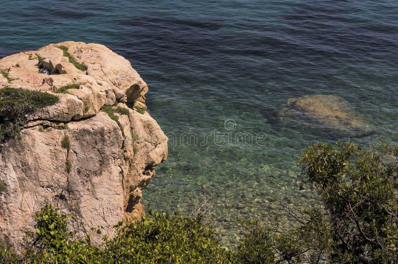 Zeekust van Roquebrune GLB Martin in een de zomerdag stock afbeelding