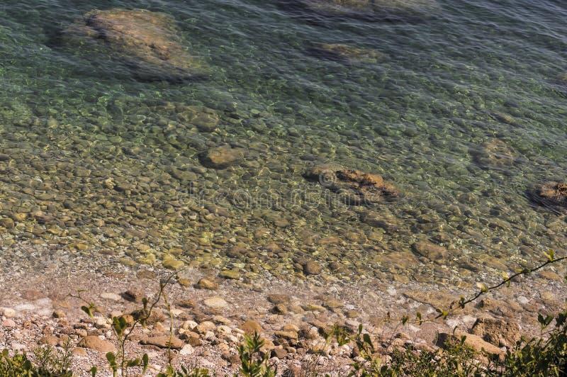 Zeekust van Roquebrune GLB Martin in een de zomerdag royalty-vrije stock afbeelding