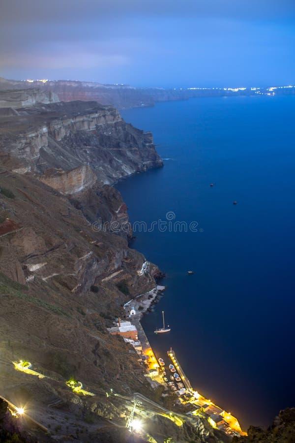 Zeekust van Santorini, Griekenland stock afbeeldingen