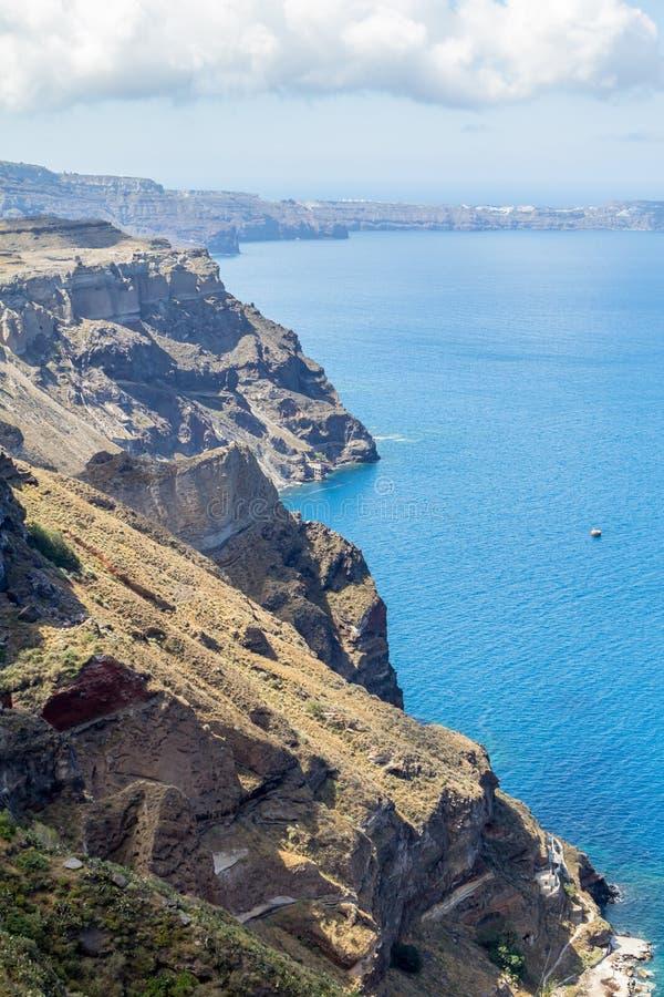 Zeekust van Santorini, Griekenland stock fotografie