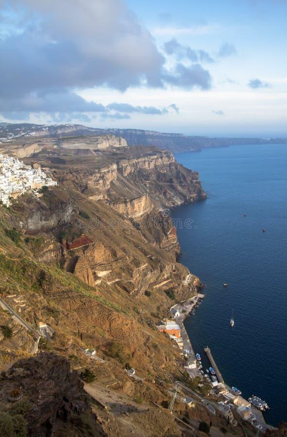 Zeekust van Santorini, Griekenland royalty-vrije stock foto
