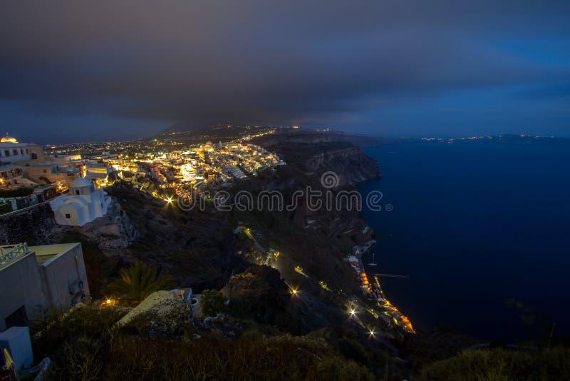 Zeekust van Santorini, Griekenland royalty-vrije stock afbeeldingen