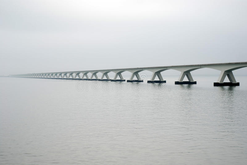 Zeeland bridge stock photography
