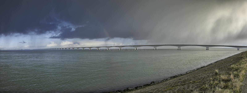 Zeeland Bridge stock photos