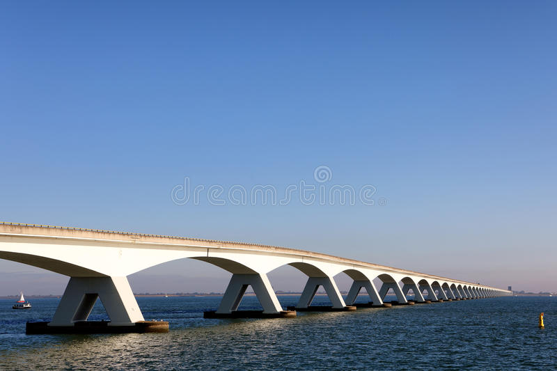 The Zeeland Bridge stock photo