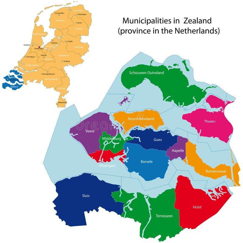 Zeeland - provincie van Nederland vector illustratie