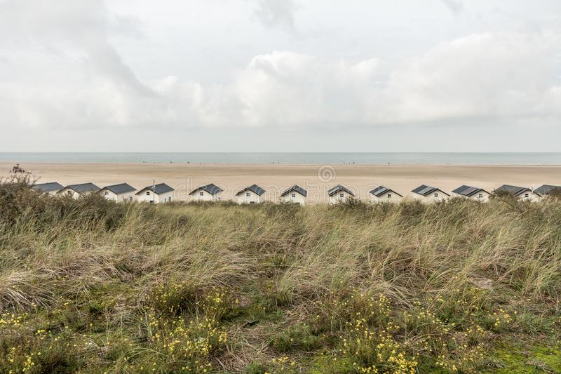 Zeeland ` s plaża obrazy stock