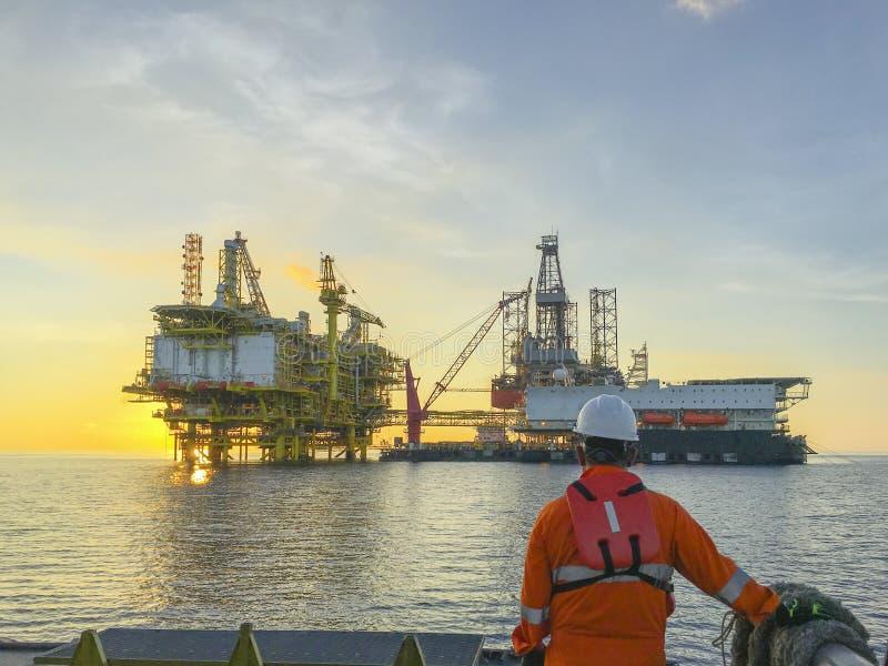 Zeeolie en Gas de industrielevensstijl royalty-vrije stock foto's